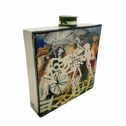 Gilbert PORTANIER (1926)  Vase 1989  Céramique...
