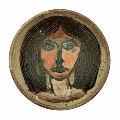 Albert THIRY (1932-2009)  Coupelle visage...