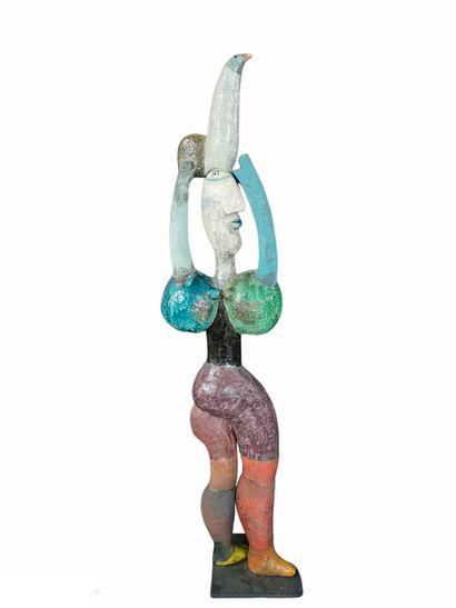 Roger CAPRON (1922-2006)  Sculpture porteuse...