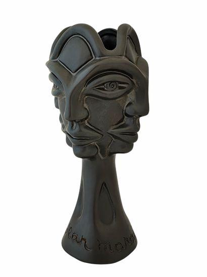 Jean MARAIS (1913-1998)  Vase quatre visages...