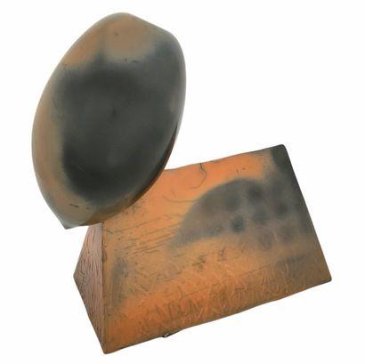 Pierre BAYLE (1945-2004)  Sculpture olive...