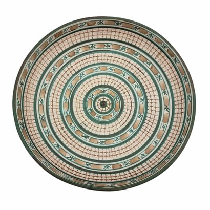 Robert PICAULT (1919-2000)  Grand plat  Céramique...