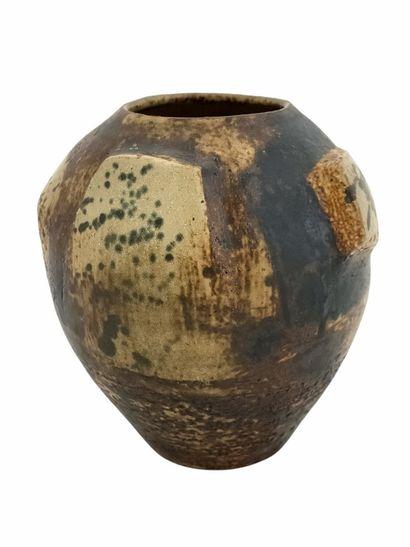 Jean DERVAL (1925-2010)  Vase sculpture,...