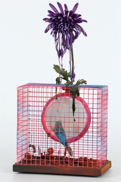 Tetsumi KUDO (1935-1990)  Cage et oiseau,...