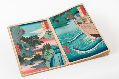 HIROSHIGE (1797-1858)  ALBUM ROKUJUYOSHU...