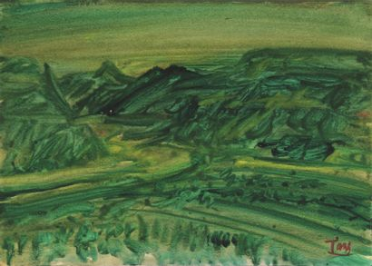 T'ANG Haywen (1927-1991) - Paysage - 1969...
