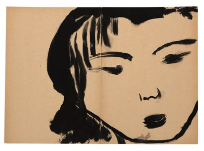 T'ANG Haywen (1927-1991) - Visage en diptyque...