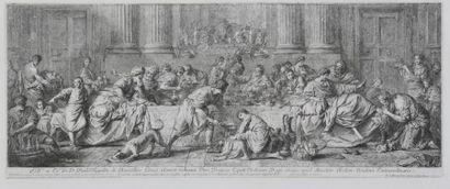 D'après Pierre SUBLEYRAS  Scène du banquet...