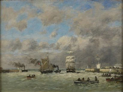Eugène BOUDIN (1824-1898)  La sortie du Port...