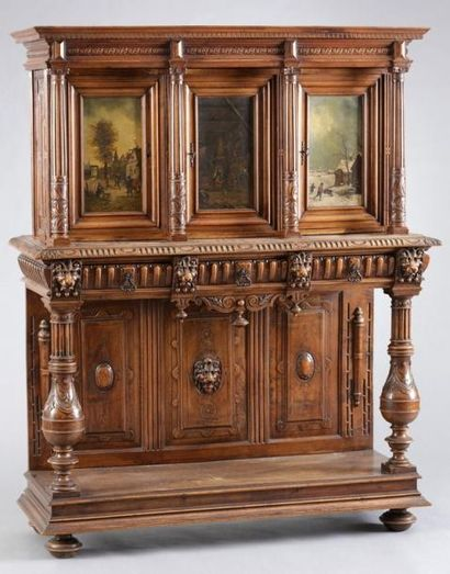 CRÉDENCE de Style Renaissance - Fin du XIXème...
