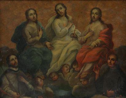 ECOLE DU XVIIIème SIECLE  Scène christique...