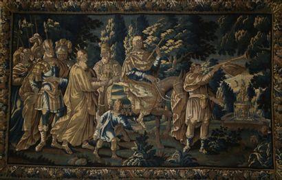 GRANDE TAPISSERIE  AUBUSSON XVIIème Siècle...