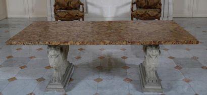 GRANDE TABLE DE MILIEU de Style Néoclassique...