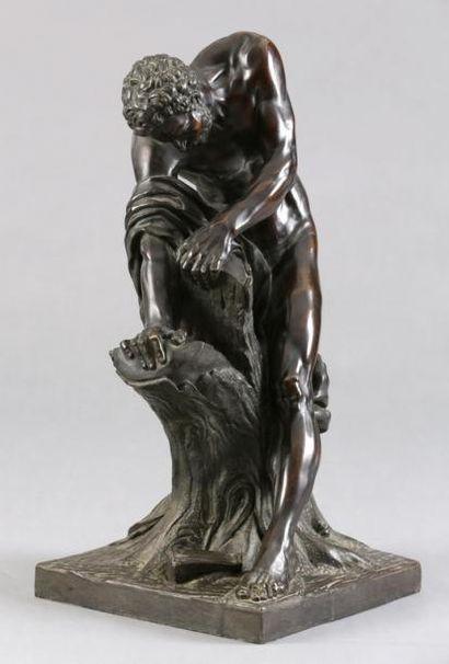 D'après Edme DUMONT  Milon de Crotone  Bronze...
