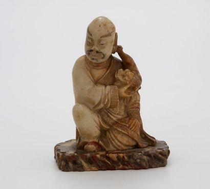 CHINE Dynastie Qing (1644-1912)  LOHAN en...