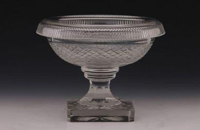 COUPE RONDE en cristal taillé de Style Restauration...