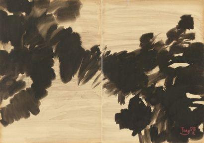 T'ANG Haywen (1927-1991)  Composition en...