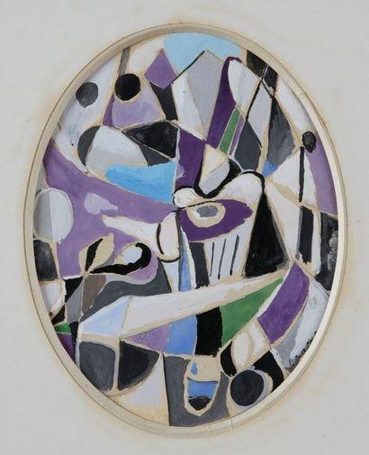 André LANSKOY (1902-1976)  Sans titre  Gouache...
