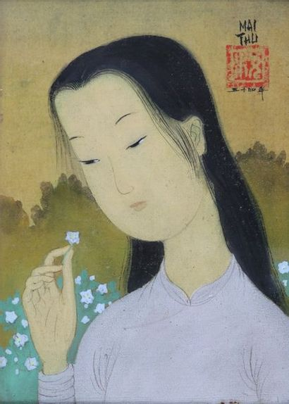 MAÏ TRUNG THU (Vietnam, 1906-1980)  Tête...