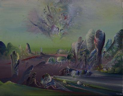 Marc JANSON (1930)  La Voie des Airs  Huile...