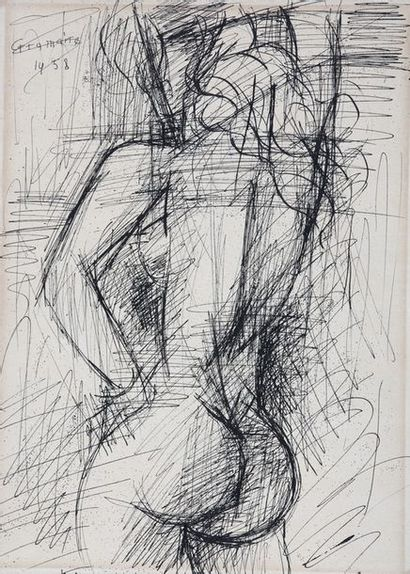 Marcel GROMAIRE (1892-1971)  Nu de dos, 1958...