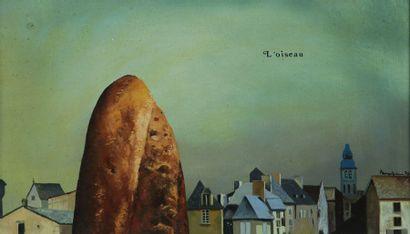 Jules PERAHIM (1914-2008)  L'Oiseau  Huile...