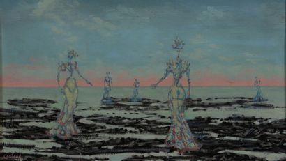 Lucien COUTAUD (1904-1977)  Dames de mer...