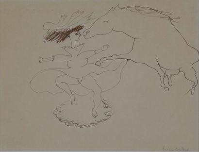 Lucien COUTAUD (1904-1977)  Cheval et Ballerine...
