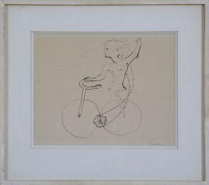 Lucien COUTAUD (1904-1977)  Femme au Vélo...
