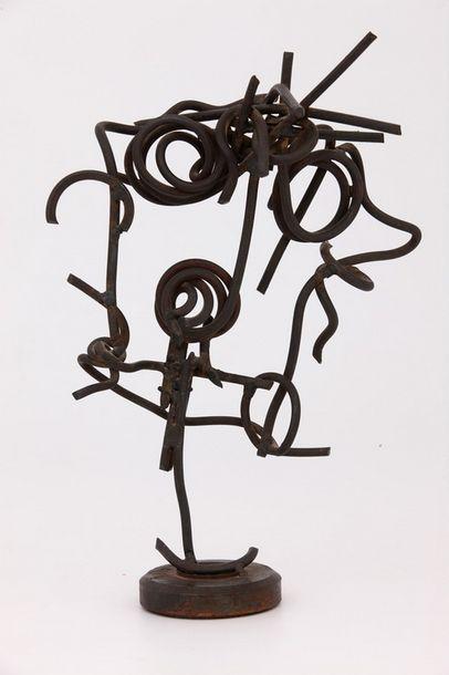 LAUNÉ (XXème Siècle)  Sculpture, 1960  Métaux...