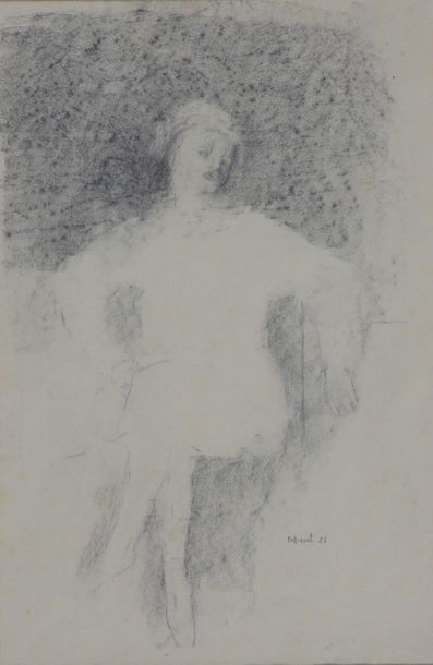 Pierre TAL-COAT (1905-1985)  Personnage assis...