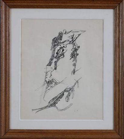 Camille BRYEN (1907-1977)  Composition surréaliste,...