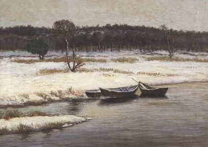 Wartan MAHOKIAN (1869-1937) Bord de rivière...