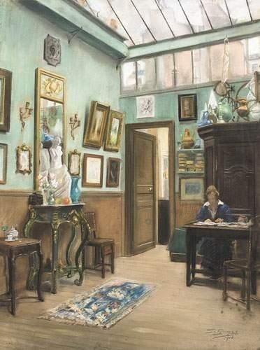 J. GRUNGECIG. Ecole SERBE, 1914. L'artiste...