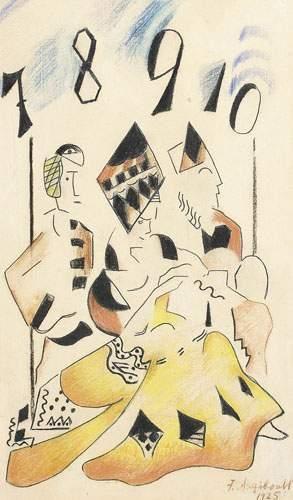 François ANGIBOULT (1887-1950) L'as de pique....