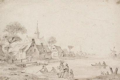 Jan Josefsz Van GOYEN Village au bord de...