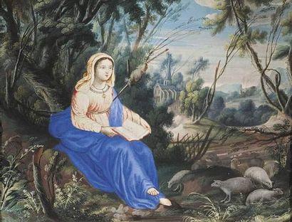 Ecole FRANCAISE vers 1660 Sainte Geneviève....