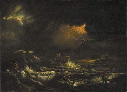 Pierre Nolasque BERGERET (1782-1863) Naufrage....