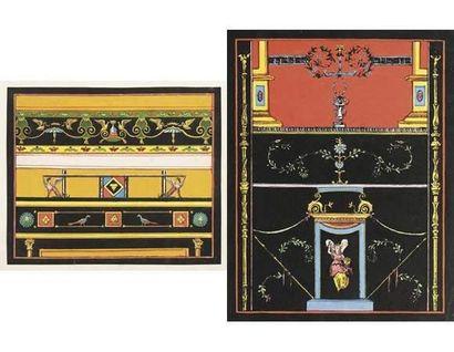 Ecole ITALIENNE vers 1800 Projets de décors...