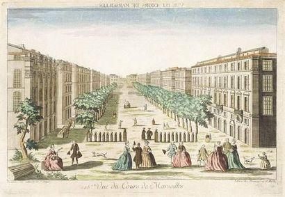 Vue du cours de Marseille au XVIIIème siècle...