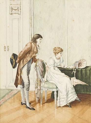 Ecole FRANCAISE, XIXème siècle Scène galante...