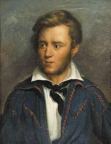 Peintre romantique ALLEMAND, vers 1830 Portrait...