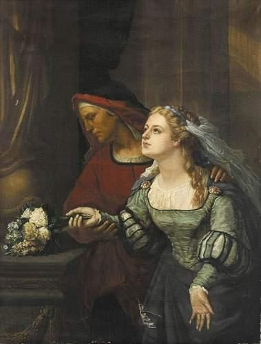 Alfred GUILLARD (1810-1880) Jeune fille au...