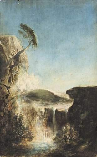 Ecole ANGLAISE, vers 1830 Les cascades de...