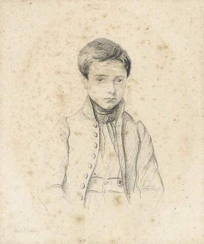 Paul FLANDRIN (1811-1902) Portrait en buste...