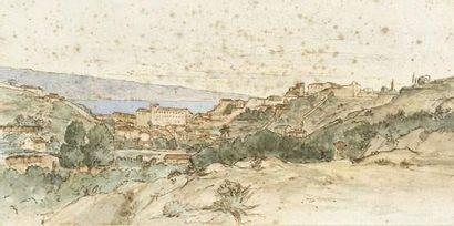 Artiste FRANÇAIS EN SICILE, 1836 Vue de Messine,...