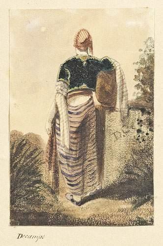 Alexandre-Gabriel DECAMPS (1803-1860) Un Turc vu de dos. Aquarelle monogrammée à...