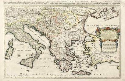 IMPORTANTE CARTE du XVIIème siècle des Estats...