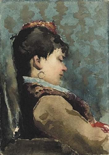 Georges CLAIRIN (1843-1919) Portrait de Sarah...