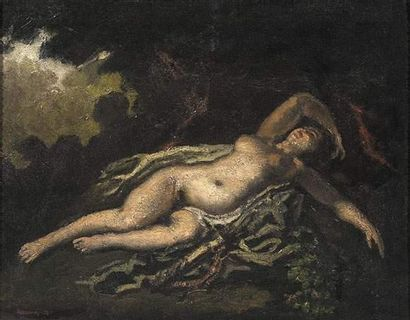 Josef DOBROWSKY (1890-1942) Femme allongée....